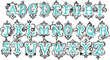"Bluebell Vintage Monogram Font - Larger size 4,5,6"" sizes"