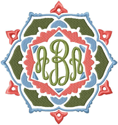 Monogram Frame 3 - Machine Embroidery Design