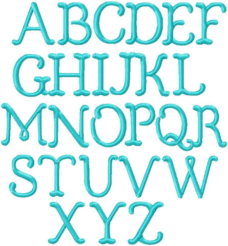 "Bluebell Font .75, 1"", 1.25"" Sizes  - Goes with the Bluebell Vintage Font"