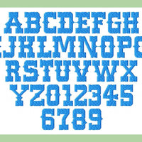 "Western Font- 2"" upper and lower case plus numbers  Machine Embroidery Design -"