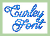 Curly Font Machine Embroidery Font