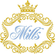 Crown Vine Monogram Frame
