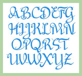 Pippy Font 2,3,4 inch sizes Machine Embroidery Font -