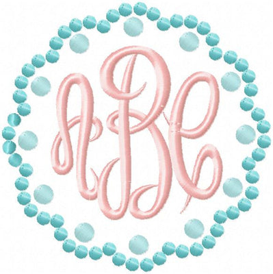 Scallop Dot Monogram Frame