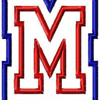 Double Applique Font Freshman- comes in 3,4,5,6 inch Sizes