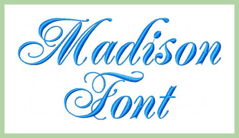 Madison Font - 1.5 and 1.0 inch sizes