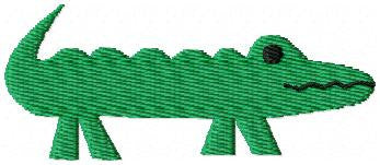 Alligator - Applique and Fill Stitched