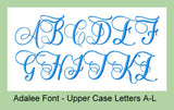 ADALEE EMBROIDERY FONT
