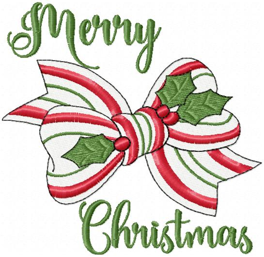 CHRISTMAS BOW - MACHINE EMBROIDERY DESIGN