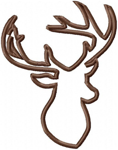Deer Antler Applique Comes in 4x3, 5x4, 6x5, 7x5, 8x6