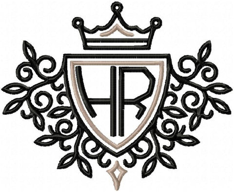 Crest Framed Monogram Crown