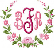 Floral Circle Border - Machine Embroidery Design