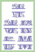 Regal Split Letter Font - Letters I - Z - 6 inches tall