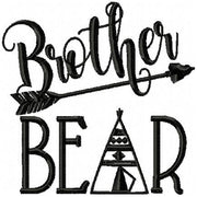 Brother Bear Machine Embroidery Design 4x4,5x5,6x6,7x7, 8x8