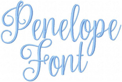 Penelope Font - Comes in 2 and 3 inch sizes upper and lower case letters - Machine Embroidery Font