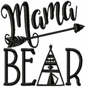 Mama Bear Machine Embroidery Design comes in 4x4,5x5,6x6,7x7,8x8