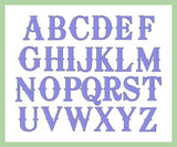 Wagoneer Font - comes in 2,3,4,5,6 inch Sizes - Machine Embroidery Font