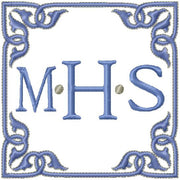 Square Monogram Frame - Comes in 4x4, 5x5, 6x6, and 7x7 inch sizes