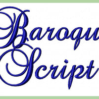 Baroque Script Font - comes in 1,2,3 inch Sizes Upper and lower Case sizes