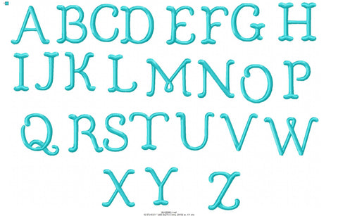 "Bluebell Font 1.5"", 1.75"" and 2""  Sizes  - Goes with the Bluebell Vintage Font"