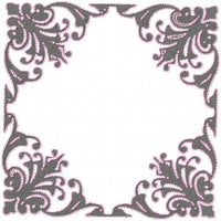 Square Flourish Frame - comes in 4,5,6,7,8,9,and 10 inch sizes