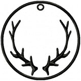 Antler Tag - use as a Christmas Stocking Tag or Zipper Pull