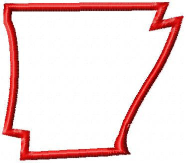 Arkansas Applique - State of Arkansas Applique - Machine Embroidery Design