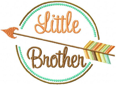 Little Brother comes in 4 sizes 4x3, 5x4,7x5 and 8x6, machine embroidery design
