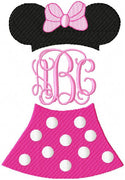 Minnie Mouse Monogram Frame - comes in 6 Sizes