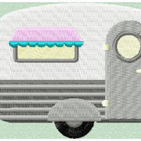 Camper 2 Fill Stitch - Machine Embroidery Design