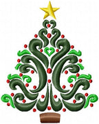 Beautiful Christmas Tree - Machine Embroidery Design - Comes in 4 sizes