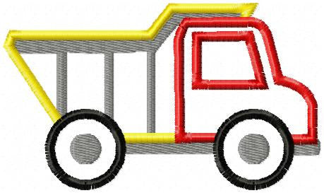 Dump Truck Applique Machine Embroidery Applique Design Bling