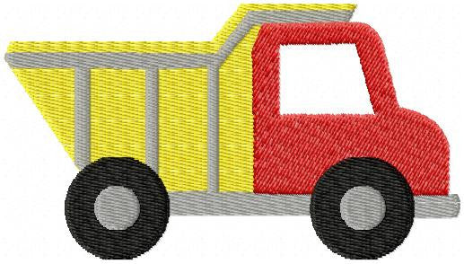 Dump Truck Machine Embroidery Design - Fill Stitch