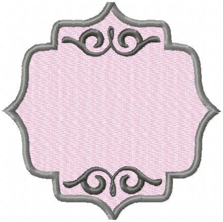 Ornate Frame - comes in 4x4,5x5,6x6, 7x7 and 8x8  Machine embroidery design