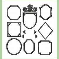 Octogon Diamond  Monogram comes in 1,2, and 3 inch size with 10 frames