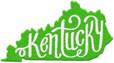 Kentucky State. Embroidery Design