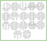 Blanket Stitch Circle Font - 8 inch size - machine embroidery Font