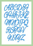 Allesandro Font comes in 1.5 and 2 inch sizes - with numbers and ampersand