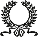 Laurel Wreath with Leaves and Bow