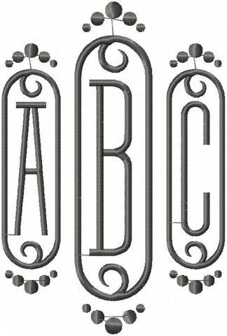 machine embroidery design monogram font