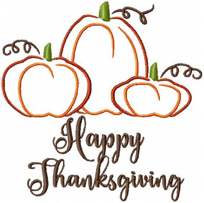 HAPPY THANKSGIVING - MACHINE EMBROIDERY DESIGN