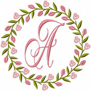 ROSE TULIP WREATH MONOGRAM FRAME