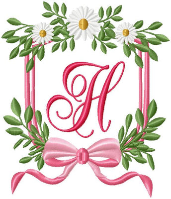 DAISY SHIELD MONOGRAM FRAME