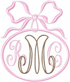 Bow Frames - Machine Embroider Monogram Frames Set of 3 Frames in 2 Sizes each