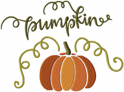 FALL PUMPKIN - MACHINE EMBROIDERY DESIGN