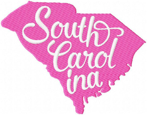 South Carolina - State Silhouette machine embroidery design