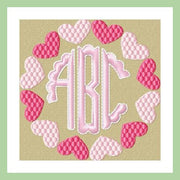 CIRCLE HEART MONOGRAM FRAME