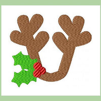 Reindeer Monogram Topper comes in 4 sizes 1,2,3 and 4inch letter sizes