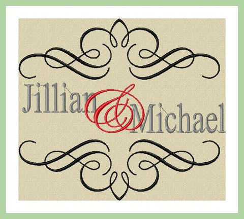 Wedding Scroll Design - Machine Embroidery Design