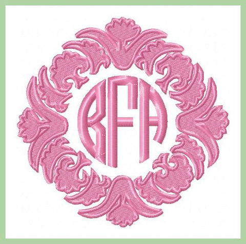 Ornate Monogram Frame - Comes in 5x5,6x6 7x7 8x8 9x9 10x10